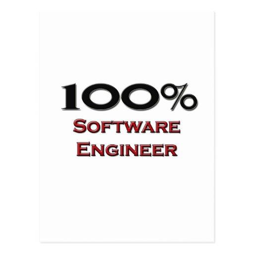 Software Engineer del 100 por ciento Postales