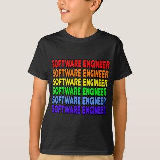Software Engineer del arco iris Playera