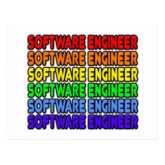 Software Engineer del arco iris Postales