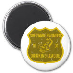 Software Engineer Drinking League 2 Inch Round Magnet