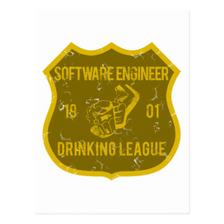 Software Engineer Drinking League Postcard