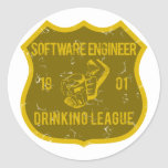 Software Engineer Drinking League Stickers