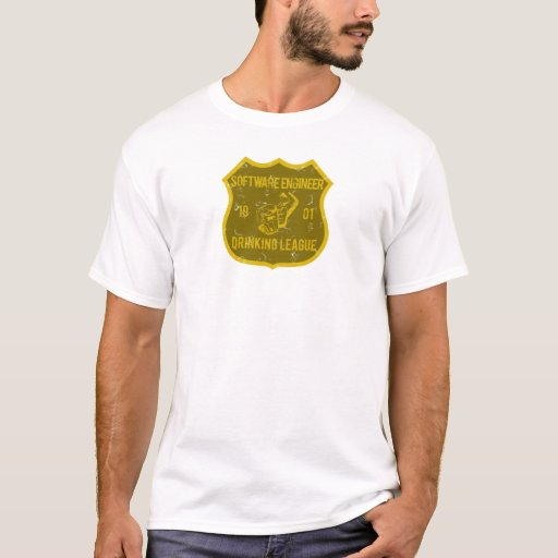Software Engineer Drinking League T-Shirt