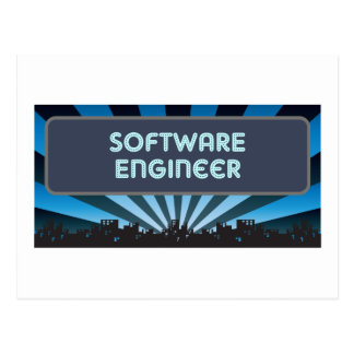 Software Engineer Marquee Postcard