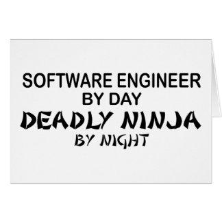 Software Engineer Ninja mortal Tarjeta De Felicitación
