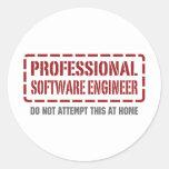 Software Engineer profesional Pegatinas Redondas