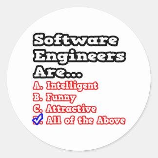Software Engineer Quiz...Joke Round Sticker