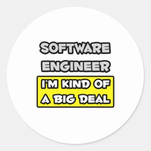 Software Engineer. Soy un poco una gran cosa Pegatina Redonda