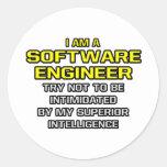 Software Engineer..Superior Intelligence Round Sticker