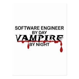 Software Engineer Vampire by Night Postcard