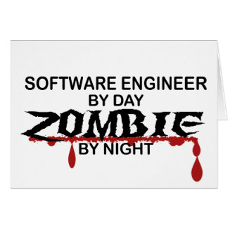 Software Engineer Zombie Card