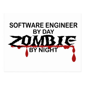 Software Engineer Zombie Postcard