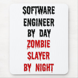 Software Engineer Zombie Slayer Mouse Pad