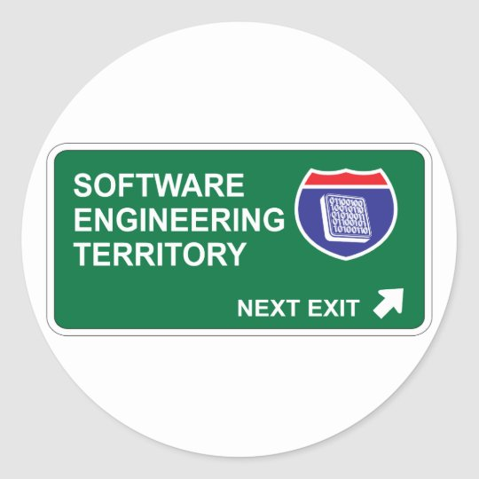 Software Engineering Next Exit Classic Round Sticker