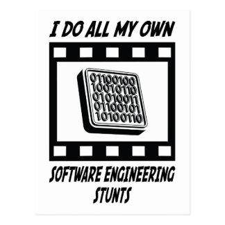 Software Engineering Stunts Postcard