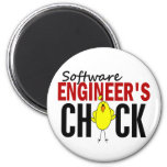 Software Engineer's Chick Refrigerator Magnets
