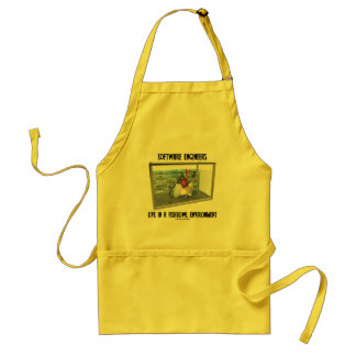 Software Engineers Live In A Fishbowl Environment Adult Apron