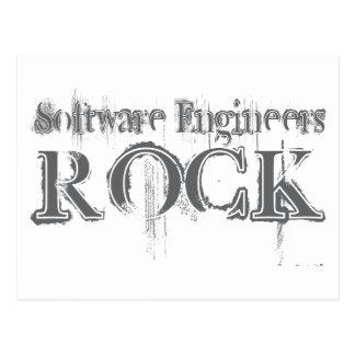 Software Engineers Rock Postcard