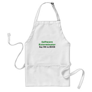 Software Exterminator Say No To Bugs Adult Apron