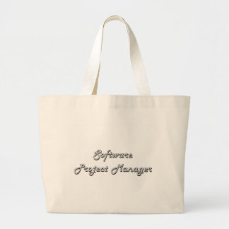 Software Project Manager Classic Job Design Jumbo Tote Bag
