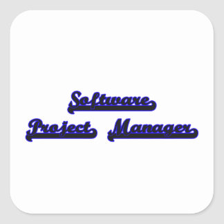 Software Project Manager Classic Job Design Square Sticker