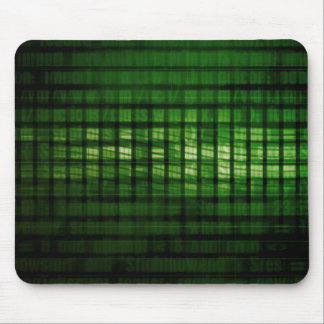 Software Solution with Blurred Code Abstract Backg Mouse Pad