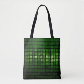Software Solution with Blurred Code Abstract Backg Tote Bag