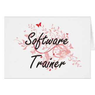 Software Trainer Artistic Job Design with Butterfl Card