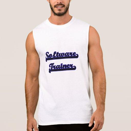 Software Trainer Classic Job Design Sleeveless Shirts Tank Tops, Tanktops Shirts