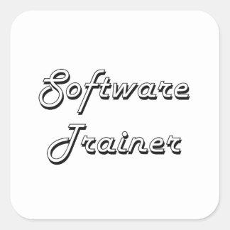 Software Trainer Classic Job Design Square Sticker