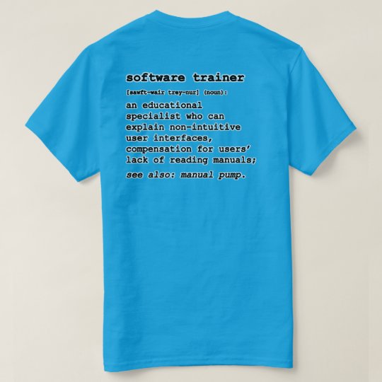 Software Trainer T-Shirt ver 2.1