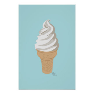 Softy Cone Poster