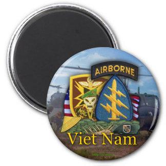 sog Vietnam Magne del macv de las boinas verdes de Imán Redondo 5 Cm