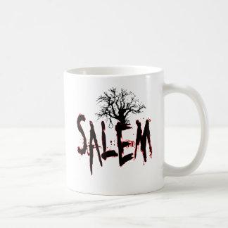 Soga de ensayo del árbol de la bruja de Salem Taza Básica Blanca