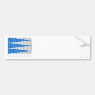 Sogn og Fjordane waving flag with name Bumper Sticker