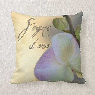 Sogni D'oro (sweet dreams) Orchid Throw Pillow