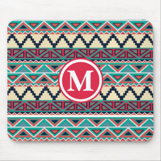 Soho Boho Geometric Modern Tribal Monogram Mouse Pad