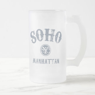 SoHo Frosted Glass Beer Mug