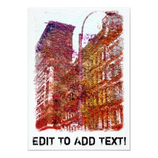 """Soho, New York City Invitación 5"""" X 7"""""""