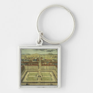Soho or King's Square, for 'Stow's Survey of Londo Silver-Colored Square Keychain