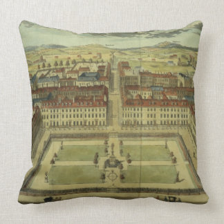 Soho or King's Square, for 'Stow's Survey of Londo Throw Pillow