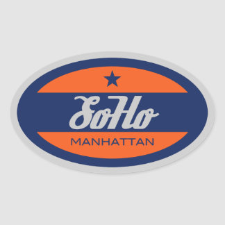 SoHo Oval Sticker