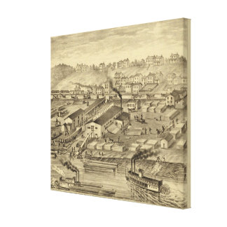 Soho Saw and Planing Mills and Barge Yards Canvas Print