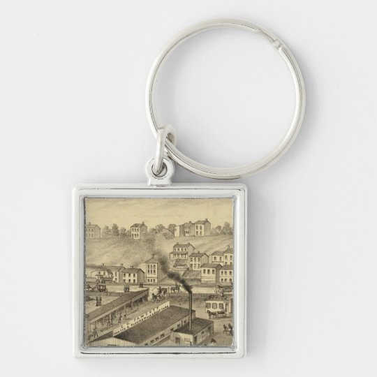 Soho Saw and Planing Mills and Barge Yards Keychain