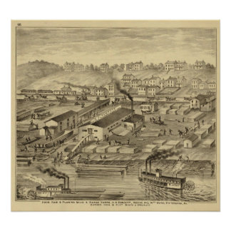 Soho Saw and Planing Mills and Barge Yards Poster