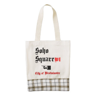 Soho Square, City of Westminster Zazzle HEART Tote Bag