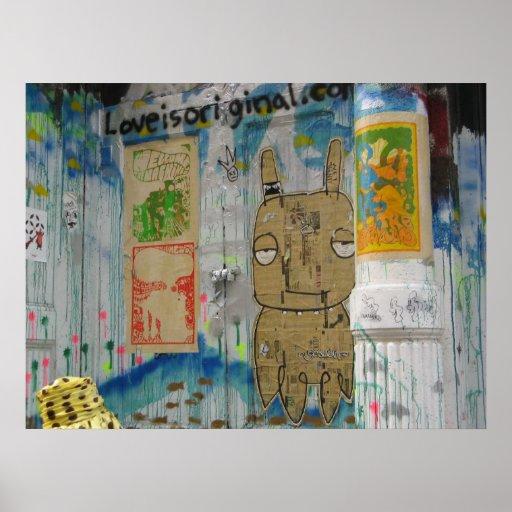 Soho Street Art Poster