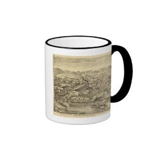 Soho vio y los molinos y las yardas de cepillado d taza de café