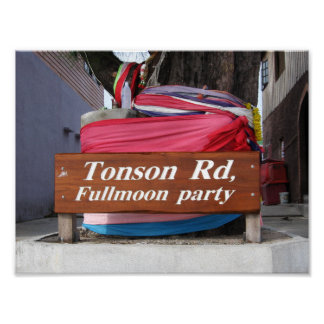 Soi Tonson, Koh Phangan ... Fullmoon Party Poster