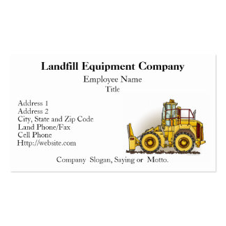 Soil Compactor Business Cards